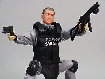 """CAMO RC Driver 12/"""" ACTION FIGURE POSEABLE Special Forces SWAT Military w// Acc"""