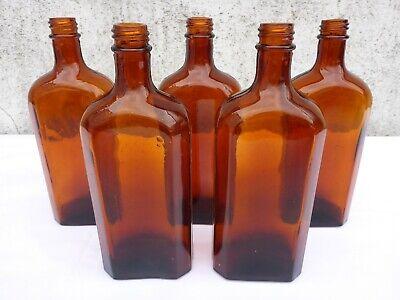 5 x alte braune Medizin Glas Apotheke Apotheker Flasche 250 ml ca. 17,0 cm braun 2