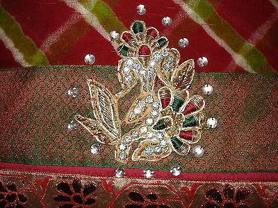 Deep Red/maroon Chiffon Indian Saree From Ahemedabad 2