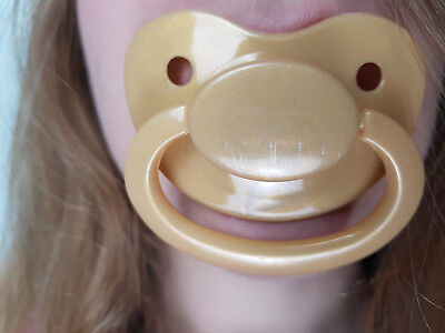 Adult Pacifier Soother Dummy from the dotty diaper company Red