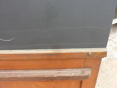 "early 20th century schoolhouse SLATE chalkboard salvaged DOOR & FRAME 65 x 30.5"" 4"