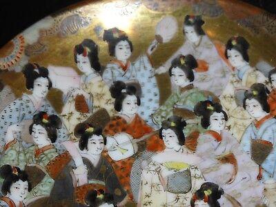 "Antique Japanese Kutani Porcelain GEISHAS Cup Signed ""Dai Nippon Nakamura"" 9"