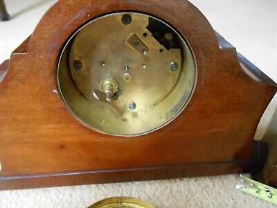 Vintage Mahogany Mantle Clock 8 Day Movement with Platform Escapement & another 5