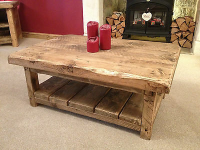 10 Of 12 Bespoke Rustic Wooden Coffee Table Made To Suit Any Size Pls Email