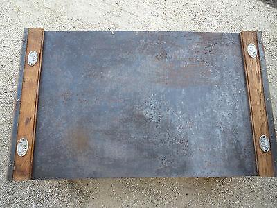 Ancienne Table Basse Loft Atelier Industrielle Usine French Antique Brocante