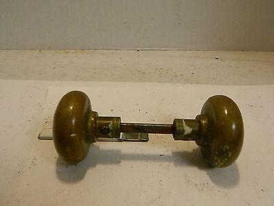"""Antique Victorian Brass Door Handles 2.25"""" x 2"""" Very Good Condition 4"""