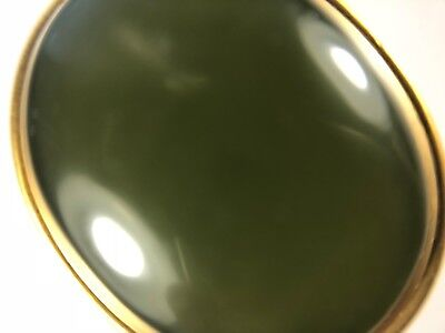 Antique Islamic Rare Green Yemen Agate Stone with 18 K Solid Pendant Frame 7