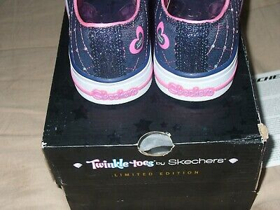 "Skechers Girl's Twinkle Toes Limited Edition Sz1.5 NWB. 10959L/DNPK 9"" IN LENGTH 8"