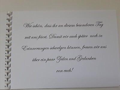Gästebuch/Fotoalbum zur Hochzeit, Hochzeitsbuch, creme/türkis, Geschenk, DinA4