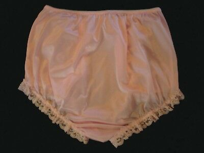 nel-jen Handmade Sissy ALL PINK TRICOT and LACE High Waist  Panties 4