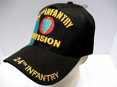 64ac4360dce ... 4 24TH INFANTRY DIVISION VETERAN Cap Hat Black New Military FREE  SHIPPING 3