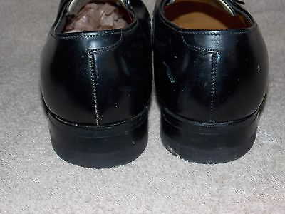 cf8f37b41b5b1 ... JC Penny Black Leather Vintage Plain Toe OX Shoes Men 8 D B Used 4