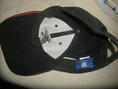 183b60ab6e7 ... Atlanta Falcons NFL Reebok Black Cap Hat with Adjustable Strap One Size  Fits All