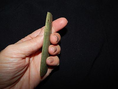 Pre-Columbian Ceremonial Jade Pendant, Authentic , Calcified Green Jade 6