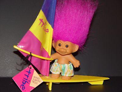 "Troll Doll 4 1//2/"" Russ Boy in Shorts Purple Hair"