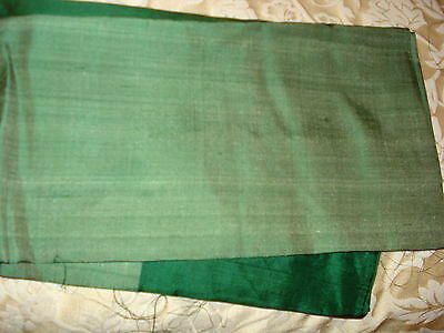 Bn Ladies Green & Gold Banarsee Saree With Heavy Border With Blouse Piece 2