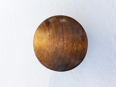 """Vintage Antique Hardware Maple Drawer Knob Wood Pull  1 1/4""""diameter Mushroom 4"""