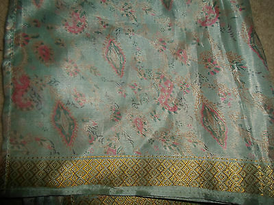 1 NEW Mixed Fibre Ladies Scarf Subtle Pinks-Pale Grey+Gold Gift Idea #63 4