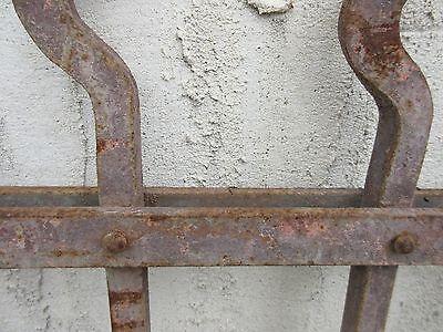 Antique Victorian Iron Gate Window Garden Fence Architectural Salvage Door #708 6