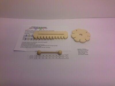 6x Knüpfstern zum knüpfen von Schnüren wie Knüpfblume Kita Qualität