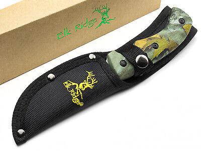Elk Ridge Gut Hook Fixed Blade Hunting Knife Camo Grip Handle 440 Blade ER274FC 6
