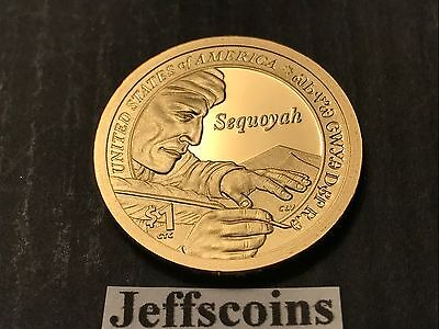 2017 S SACAGAWEA NATIVE AMERICAN Sequoyah from Cherokee Nation Proof Dollar New 4