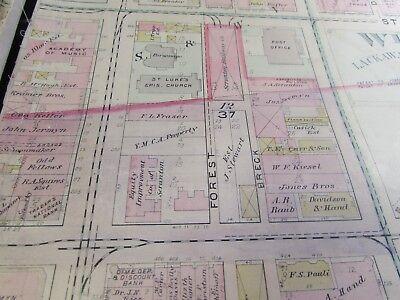 City Of Scranton - 1898 Downtown Map - Ward 8,17,9 - I.c.s, Scranton H.s. (#1) 4