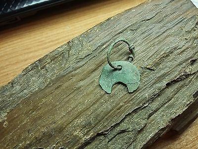 ANCIENT Goths bronze Amulet Pendant AXE 2 - 4 century AD RARE!   #2103 3