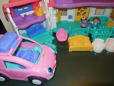 Fisher Price Little People Sweet Sound Dollhouse Cradle Family House Home Lot 9