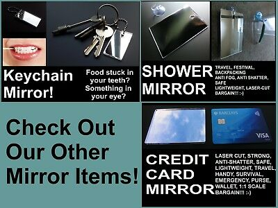 Shower Shaving Mirror, Strong Shatter Proof, Anti-Fog,Travel,camping, FREE Hook!