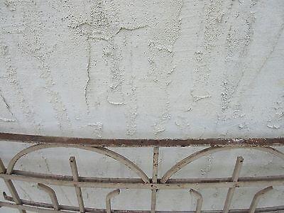 Antique Victorian Iron Gate Window Garden Fence Architectural Salvage Door #2