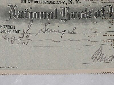 Nacional Banco de Haverstraw New York Original Banco Cuadros 1914 3