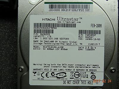 Hitachi Data Systems Hard Drive 1TB 7500RPM 0A36283 (Lot of 2) #1130