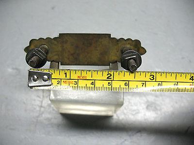 Brass  Drawer  Pull  Eastlake  Solid Brass  Complete  Vint Orig. 4