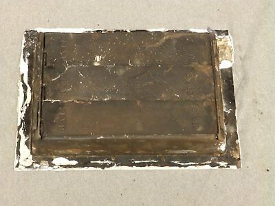 Antique Cast Iron Victorian Heat Grate Register Vent Old Vtg Hardware 619-16 5