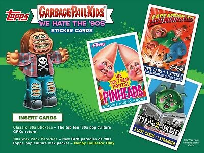 2019 Garbage Pail Kids We Hate The 90S Collector Ed Box 24 Pks Sketch Auto Plate