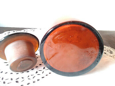 Apothekerflasche;Bismut. subsalicyl.; 1 ltr.;braunglas;geschl. Stöpsel;Loft;Deco 3