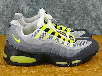 sports shoes e9a3a b16ff DS 1995 OG Nike Air Max 95 Sz 13 Grey/Neon - original vintage cool yellow  box 1