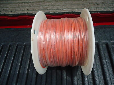 New Spool/Wire P/N 1015-20/10-3 500' Long. 20 Awg Pvc Stranded Orange 2