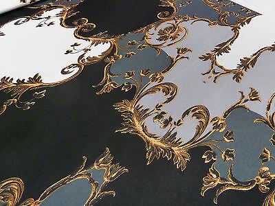 Stoff Viskose Jersey Patchwork Abstrakt schwarz grau weiß Kleiderstoff