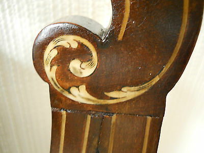 Antique Original Walnut Elbow Chair,Rose Coloured Upholstery,Beautiful Inlay. 5