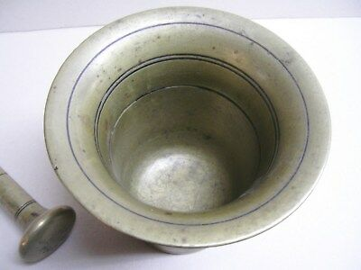 Mörser Bronze Antik 19 Jhd. mit Stößel ( Pistill ) 4