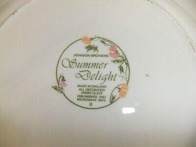 C4 Pottery Johnson Bros/Adams - Summer Delight - microwave/dishwasher safe 4E4B 3