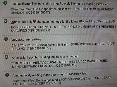 Choose Your Psychic Reading:  By 5* Pma Psychic & Medium Audient Crystal Star 2