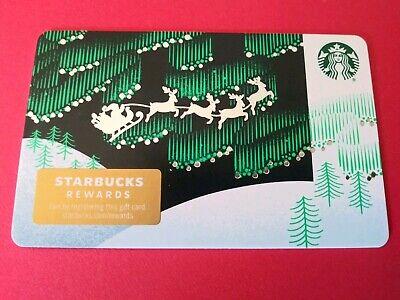 "Starbucks gift card 2019 ""SANTA'S SLEIGH RIDE"" No Value. Beauty. New 2"
