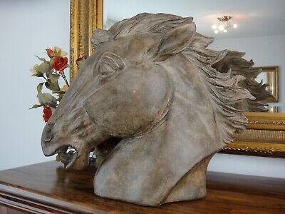Pferd Pferdekopf Pferdebüste Reiter,Pferdeskulptur,Pferdestall Pferdefreund