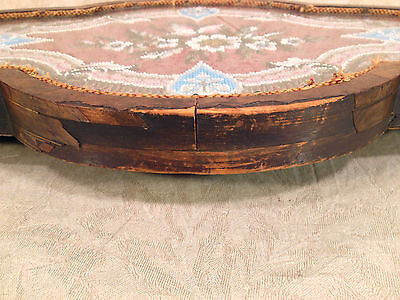 Antique Wooden Center Piece with Veneer Inlay Glass and Embroidery Bead Design 8