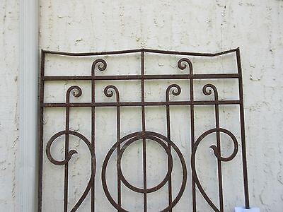 Antique Victorian Iron Gate Window Garden Fence Architectural Salvage #851 2
