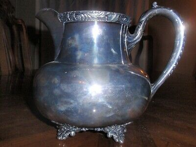 """Wilcox International Silver Plated Water Pitcher 8.5"""" IS Silverplate Jug N7062 3"""