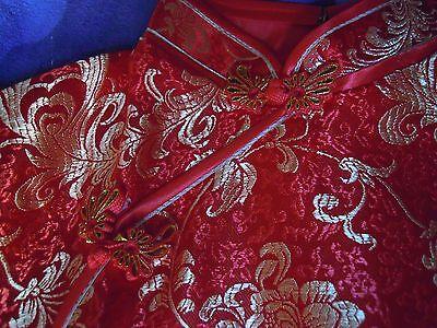 Cheongsam/qipao (Abito rosso e dorato tradizionale cinese) 3